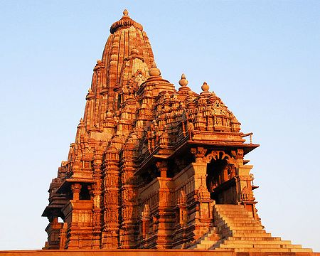 Kandariya Mahadev Temple During Sunrise, Kahjuraho - Madhya Pradesh, India