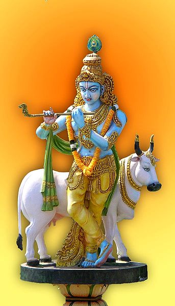 Lord Krishna with Cow