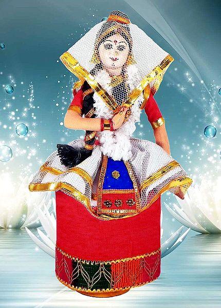 Manipuri Dancer - Unframed Photo Print on Paper