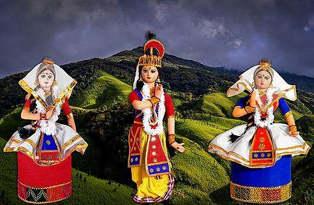 Manipuri Dancers - Unframed Photo Print on Paper