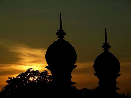 Minarets of Ibrahim Roza During Sunset - Bijapur, Karnataka, India
