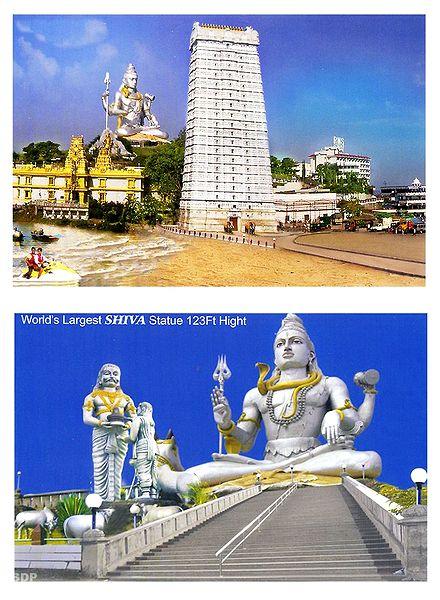 Murdeshwar Temple and Shiva, India - Set of 2 Photo Prints