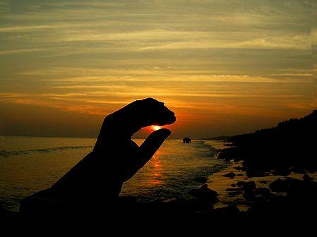 Regulating the Skies - Sunset at Digha, West Bengal, india