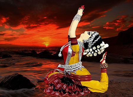 Odissi Dancer Photo- Unframed Photo Print on Paper