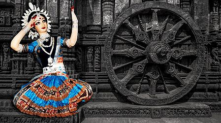 Odissi Dancer Photo - Unframed Photo Print on Paper