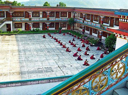 Students in Ranka Monastery - East Sikkim, India
