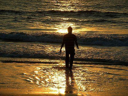 Sunset at Allepey Beach - Kerala, India