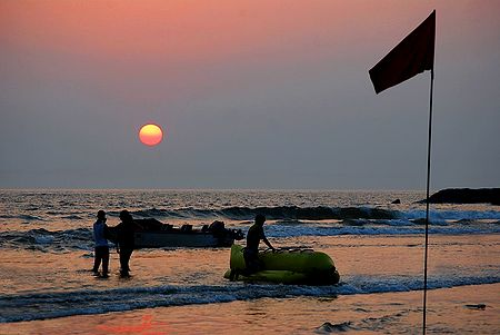 Sunset at Vaga Beach, Goa, India