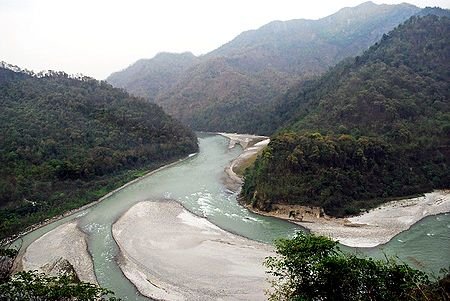 Confluence of River Tista and Rangpo - East Sikkim, India
