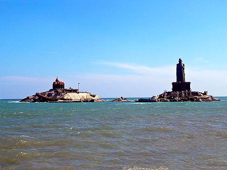 Twin Rocks at Kanyakumari - Tamil Nadu, India