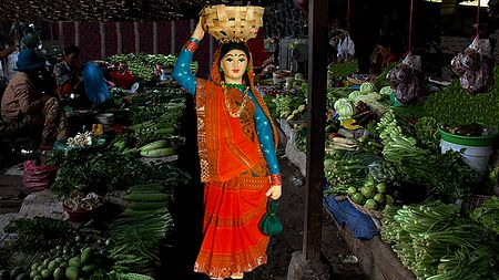 Vegetable Seller Photo - Unframed Photo Print on Paper