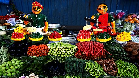 Vegetable Seller - Unframed Photo Print on Paper