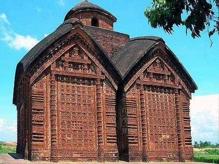 Jor-Bangla Temple, Vishnupur - West Bengal, India