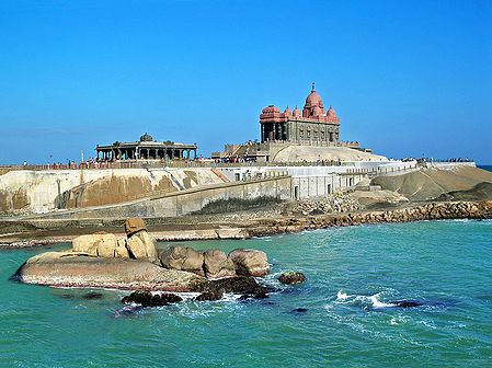 Vivekananda Rock Temple at Kanyakumari, Tamil Nadu, India
