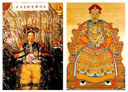 Empress Dowager Ci'xi Emperor Qianlong, China - Set of 2 Postcards