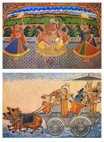 Lord Ganesha - Set of 2 Postcards