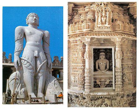 Lord Gomateshwara and Dilwara Temple - Set of 2 Postcards