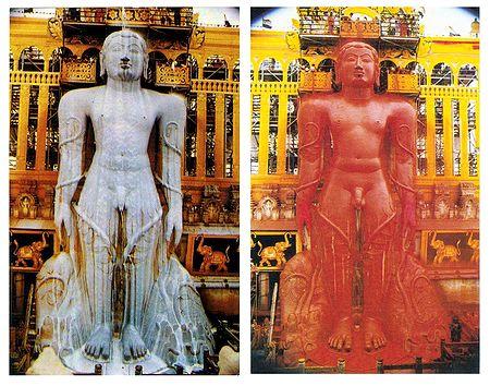 Maha Mastabhishekha of Sri Gomateshwara - Set of 2 Postcards
