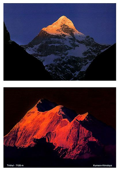 Neelkanth and Trishul, Kumaon - Set of 2 Postcards