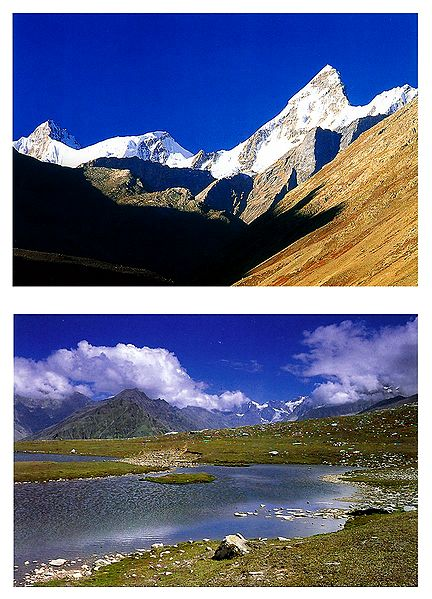 Bara Shigri Range and Rohtang Pass, Himachal Pradesh - Set of 2 Postcards