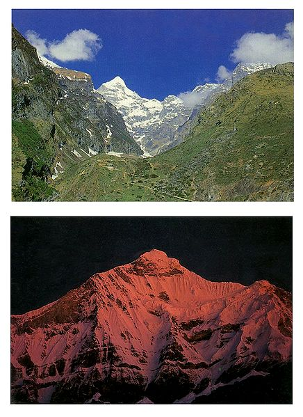 Neelkanth Peak and Nanda Devi - Set of 2 Postcards
