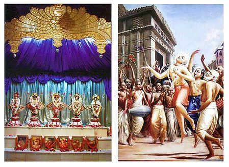 Pancha Gosain and Lord Chaitanyadev - Set of 2 Poscards