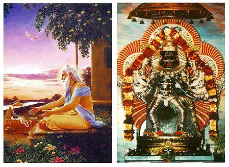 Narasinghavatar and Advaita Acharya - Set of 2 Postcards