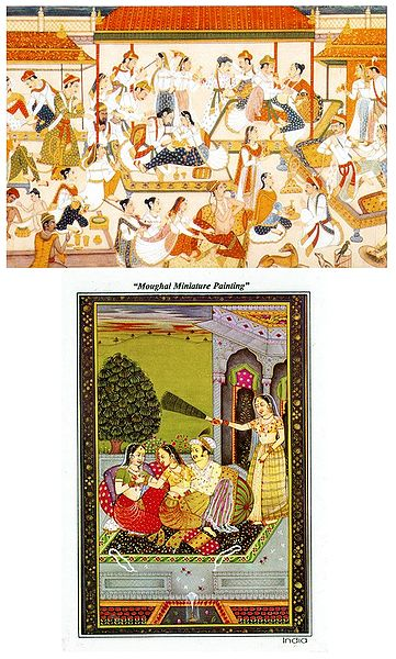 Mughal Miniature Reprint - Set of 2 Postcards