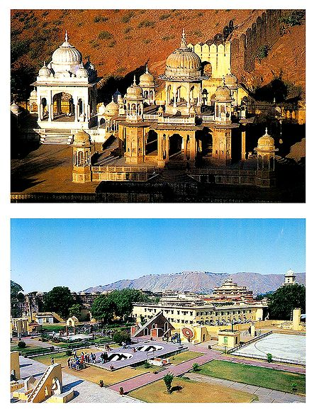 Gaitor and Jantar Mantar, Jaipur - Set of 2 Postcards