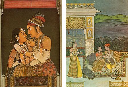 Mughal King and Queen - Set of 2 Postcards