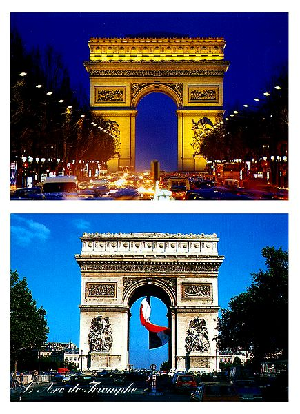 Arc de Triomphe, Paris - Set of 2 Postcards