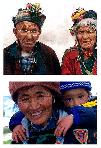 Brokpa Couple and Mother and Child from Ladakh - Set of 2 Postcards