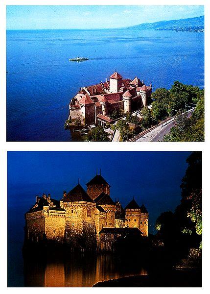 Le Chateau de Chillon, Switzerland - Set of 2 Postcards, Switzerland - Set of 2 Postcards