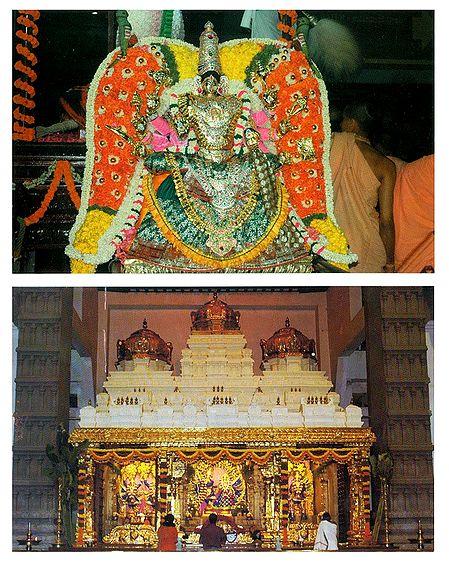Goddess Radharani and Radha Krishna in Temple - Set of 2 Postcards
