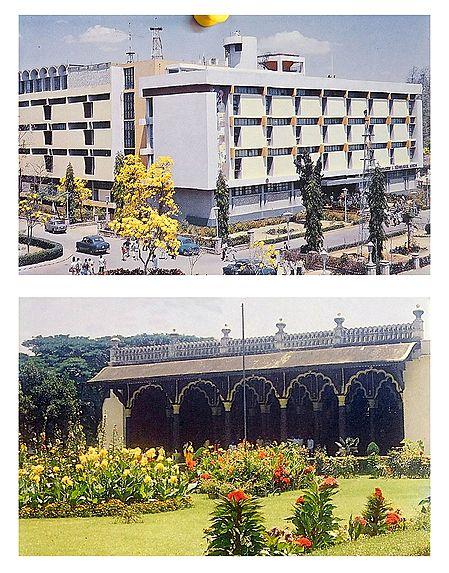 TL Museum and Tippu's Palace, Bangalore  - Set of 2 Postcards