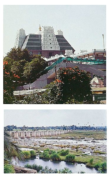 Iskcon Temple and River Cauvery, Bangalore - Set of 2 Postcards