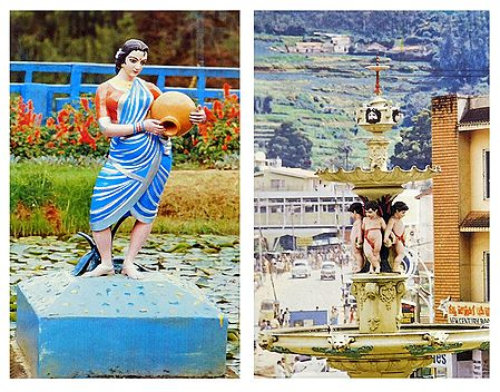 Fountain and Botanical Garden, Ooty  - Set of 2 Postcards