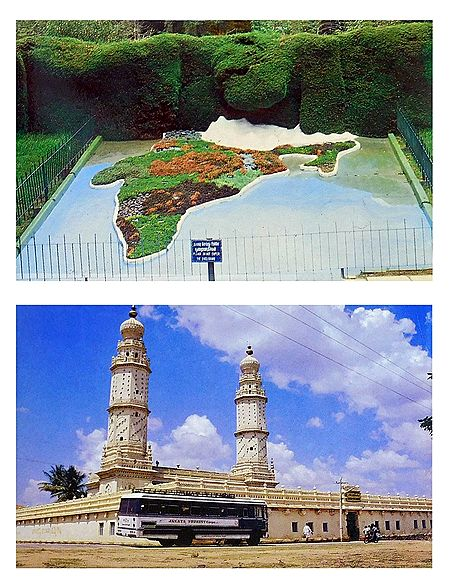 Jumma Masjid and Botanical Garden, Ooty  - Set of 2 Postcards