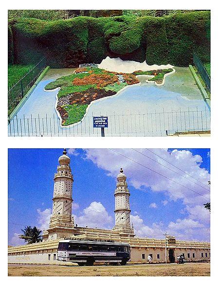 Jumma Masjid and Botanical Garden, Ooty  - Set of 2 Postcards