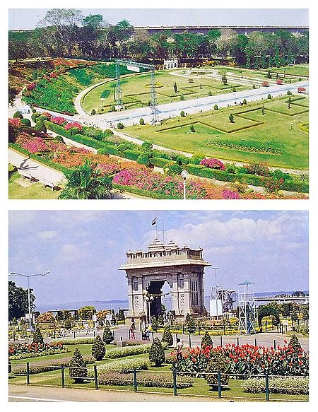 Brindavan Garden,Mysore - Set of 2 Postcards