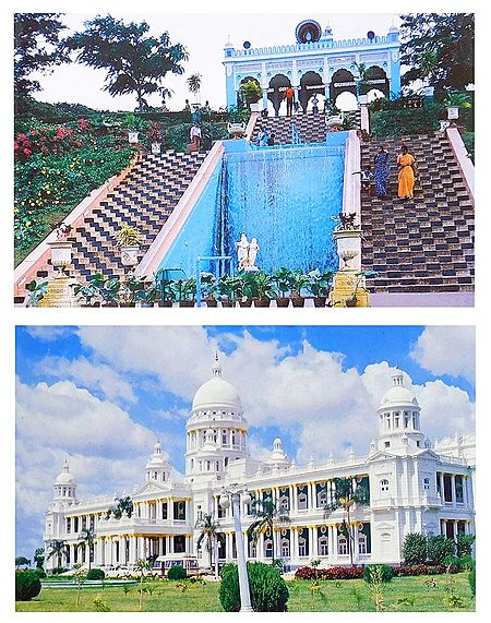 Brindavan Garden and Palace, Mysore - Set of 2 Postcards