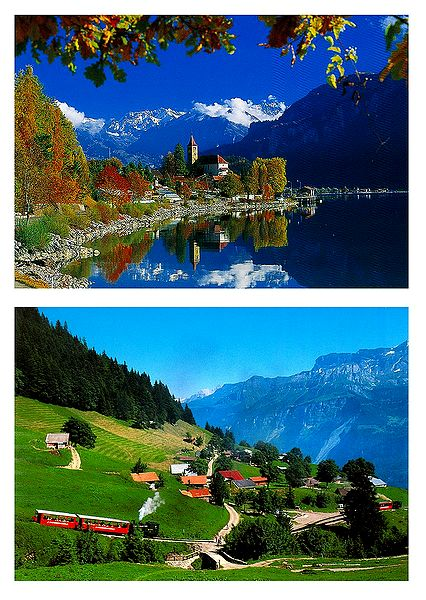Brienz, Switzerland - Set of 2 Postcards