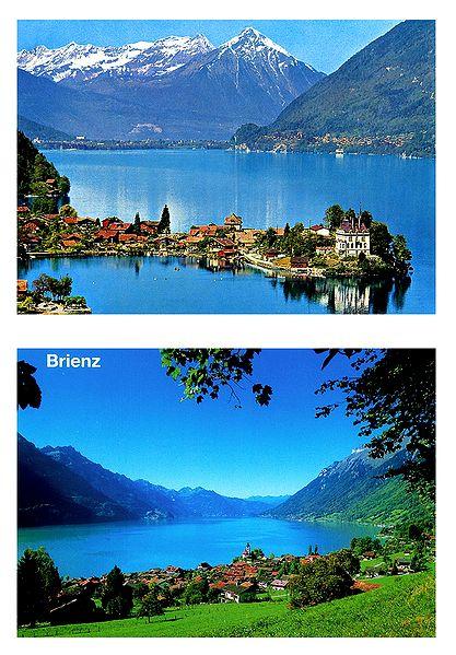 Brienz, Switzerland - Set of 2 Postcards