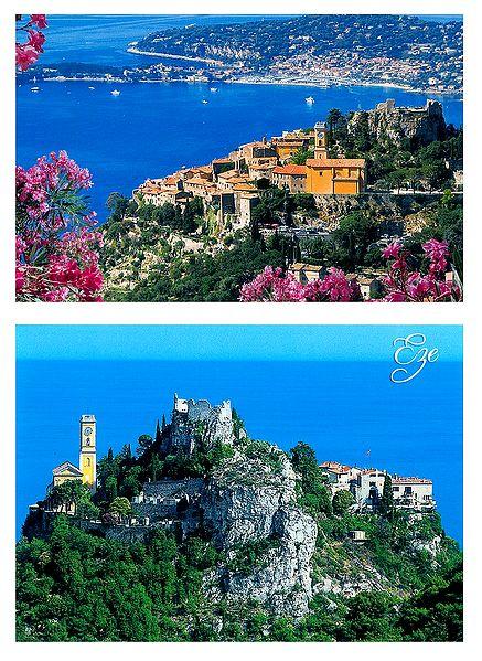 Eze Village, France- Set of 2 Postcards