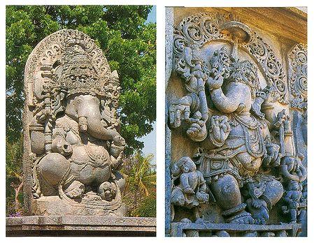 Lord Ganesha and Balamuri Ganapathi - Set of 2 Poscards