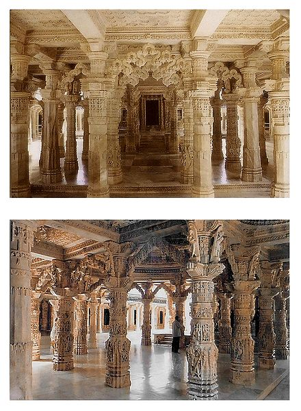Dilwara Temple, Mt. Abu - Set of 2 Postcards