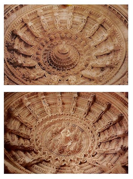 Ceiling of Dilwara Temple, Mt. Abu - Set of 2 Postcards