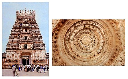Sri Ranganatha Swamy Temple and Sculpture of Dilwara Temple, Mt. Abu - Set of 2 Postcards