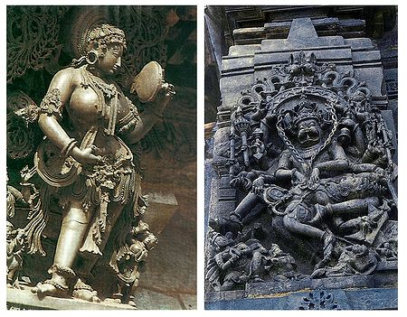 Temple Wall Carvings, Belur - Set of 2 Postcards