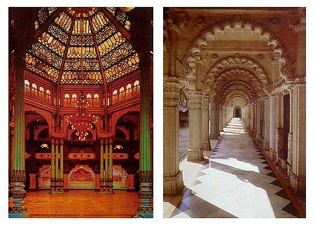 Amba Vilas and Hutheesing Jain Temple - Set of 2 Postcards